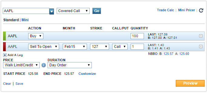 Scottrade options application