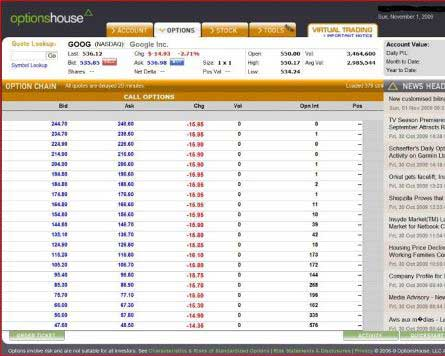 Option trading house