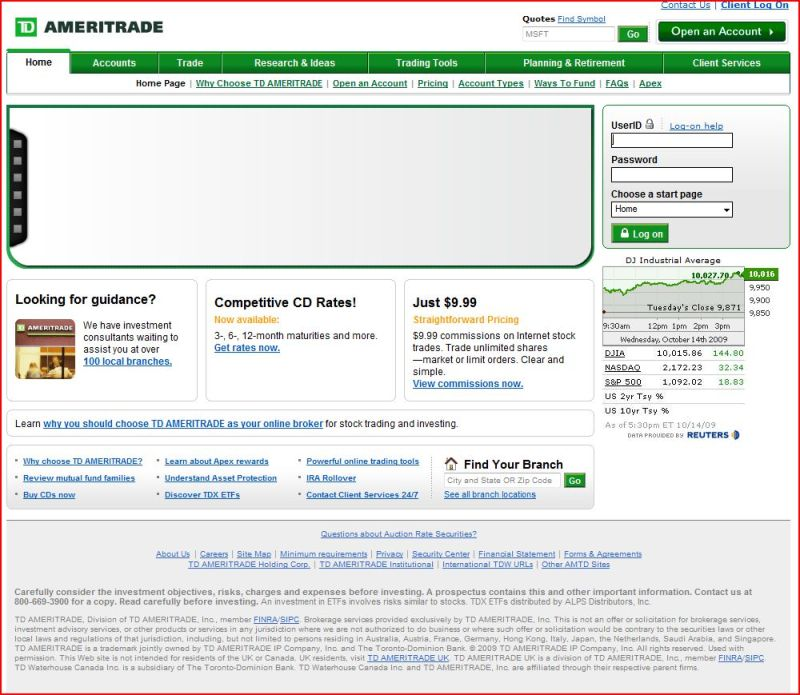 Td ameritrade forex spreads