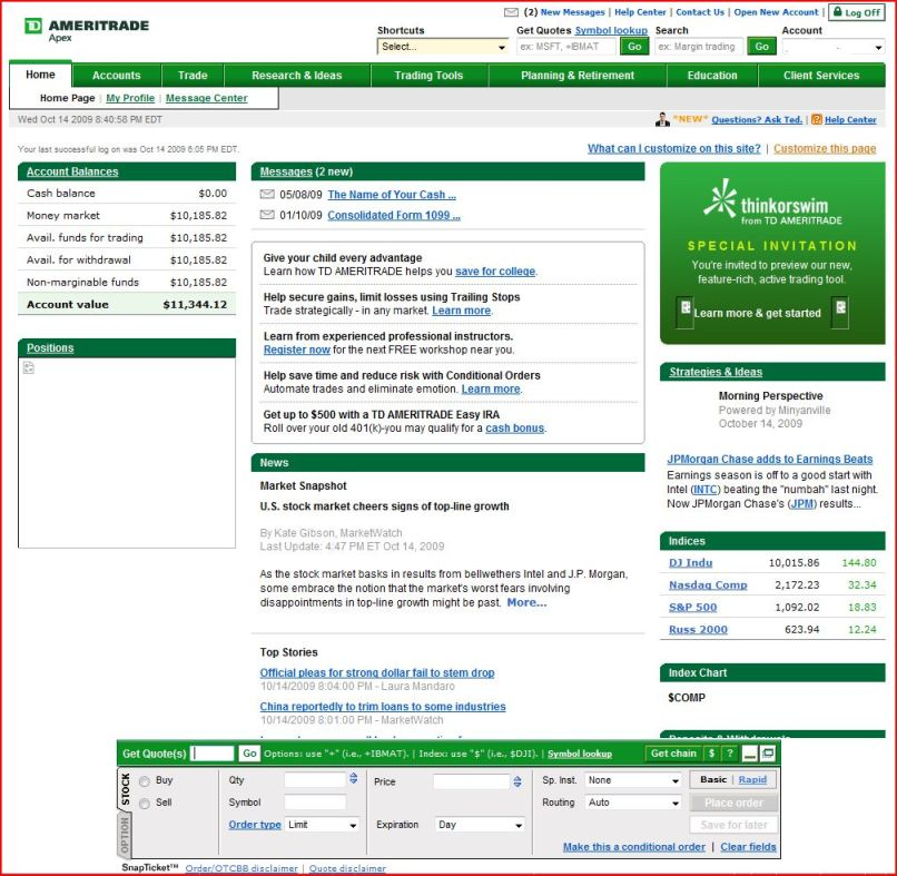 Td ameritrade apply for options